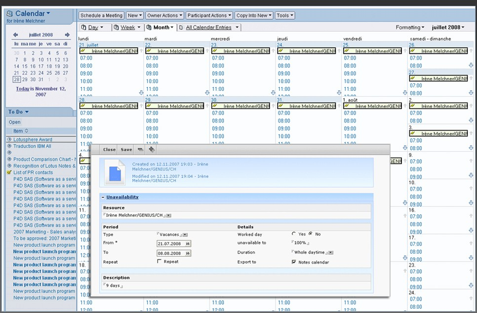 lotus notes database templates - benefits for lotus notes users project management software